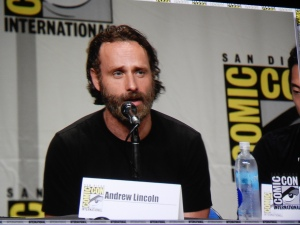 Andrew Lincoln on The Walking Dead panel at SDCC, 2014